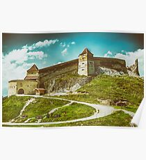 Rasnov Medieval Citadel In Romania Built Between 1211 and 1225 Poster