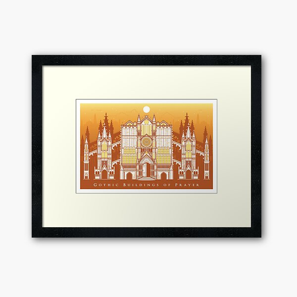 Gothic Buildings of Prayer Framed Art Print