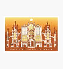 Gothic Buildings of Prayer Photographic Print
