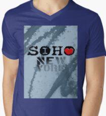 I LOVE NY soho Mens V-Neck T-Shirt