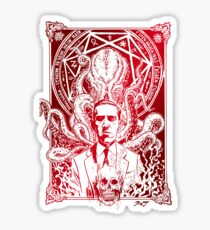 Lovecraft Cthulhu Red Sticker