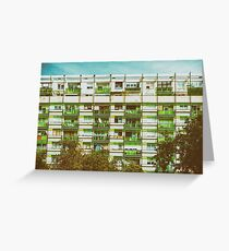 Communist Building Apartments Greeting Card