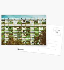 Communist Building Apartments Postcards