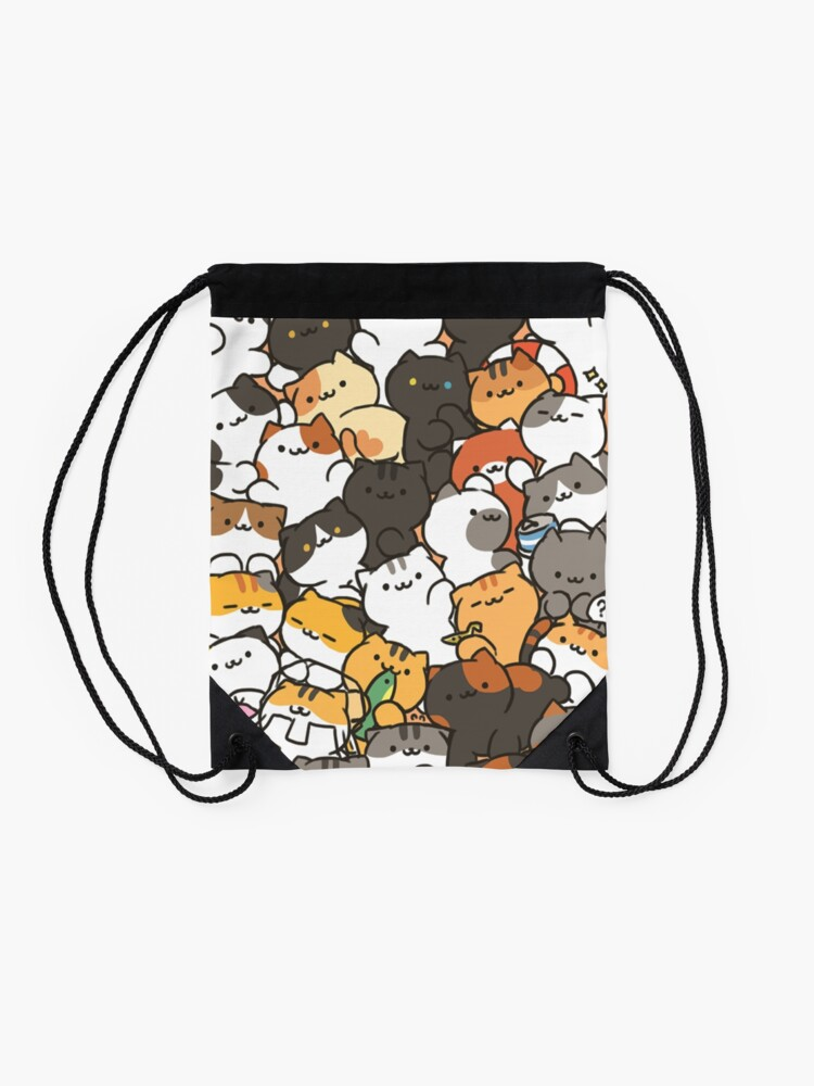 Alternate view of Neko atsume Drawstring Bag