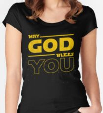 May GOD Bless YOU Women's Fitted Scoop T-Shirt