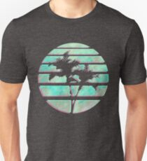 Vaporwave Palm Trees in the Sun - Blue T-Shirt