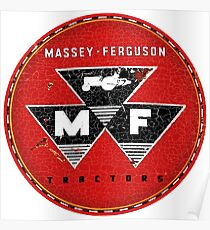 Massey Ferguson Vintage Tractors and Equipment USA Poster