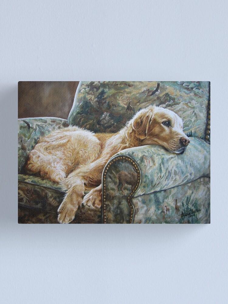 Alternate view of Golden Retriever in Chair Canvas Print