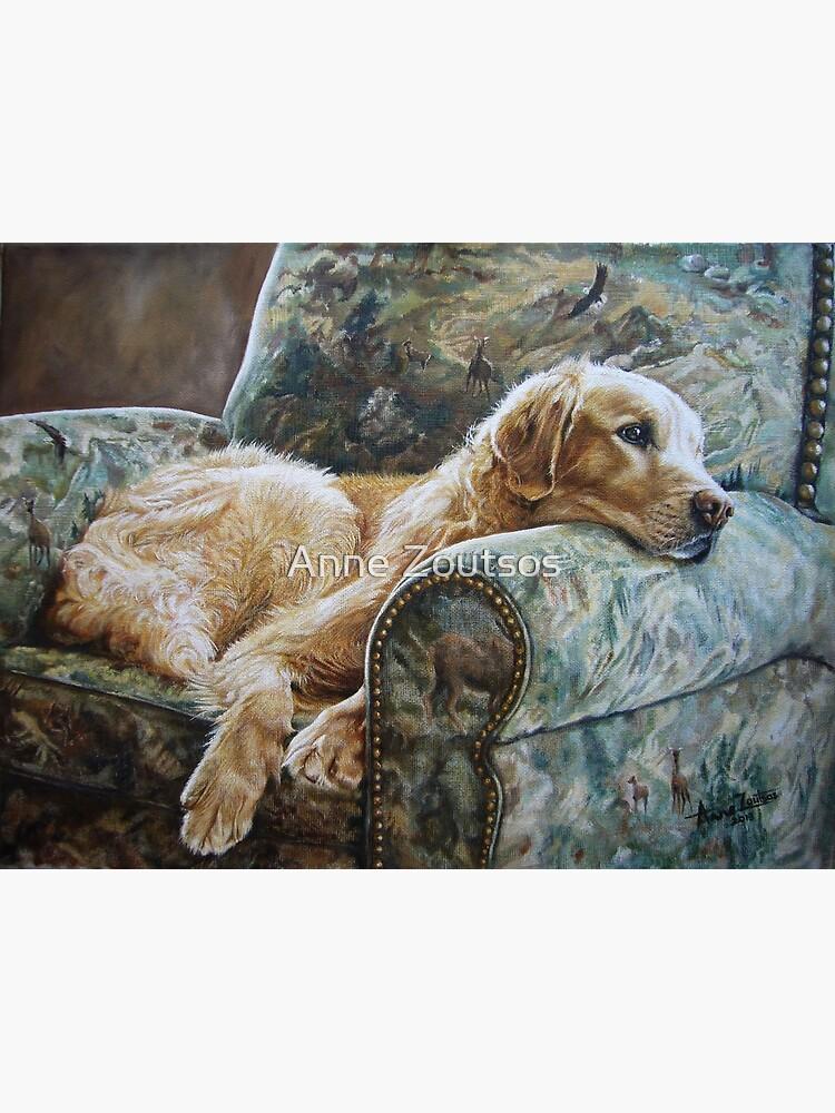 Golden Retriever in Chair by AnneZ