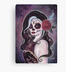 Alegria day of the dead art by Renee Lavoie Canvas Print
