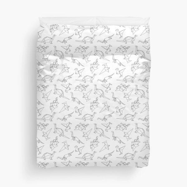 Origami Dinosaurs Duvet Cover