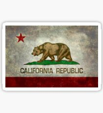 California Republic state flag - Vintage retro version Sticker