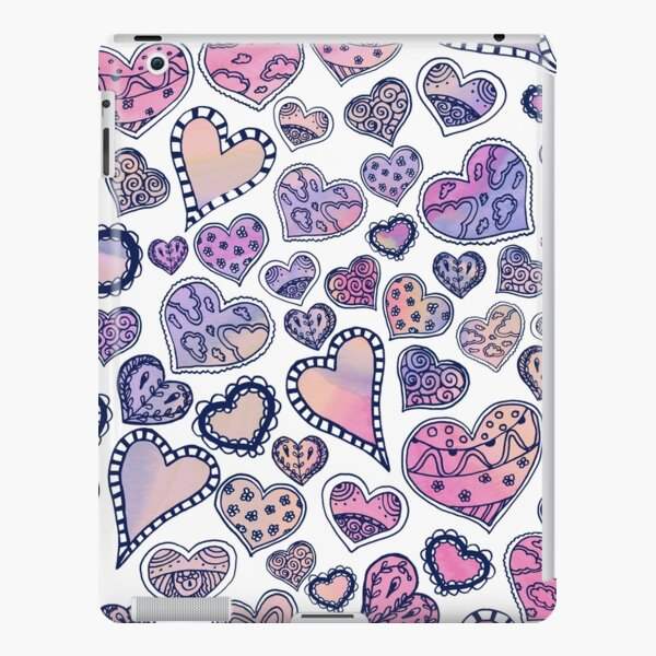 Hippie hearts - Pink iPad Snap Case