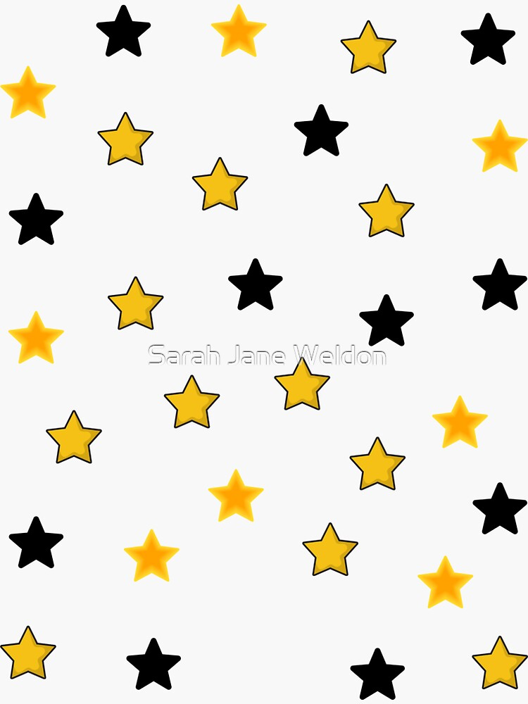 Yellow and Black Halloween Mini Star Pack by SarahRowsSolo