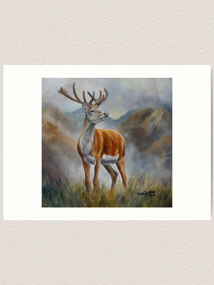 Alternate view of Prince Of The Glen (red stag) Art Print