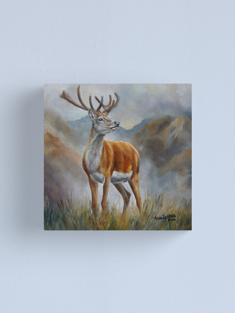 Alternate view of Prince Of The Glen (red stag) Canvas Print