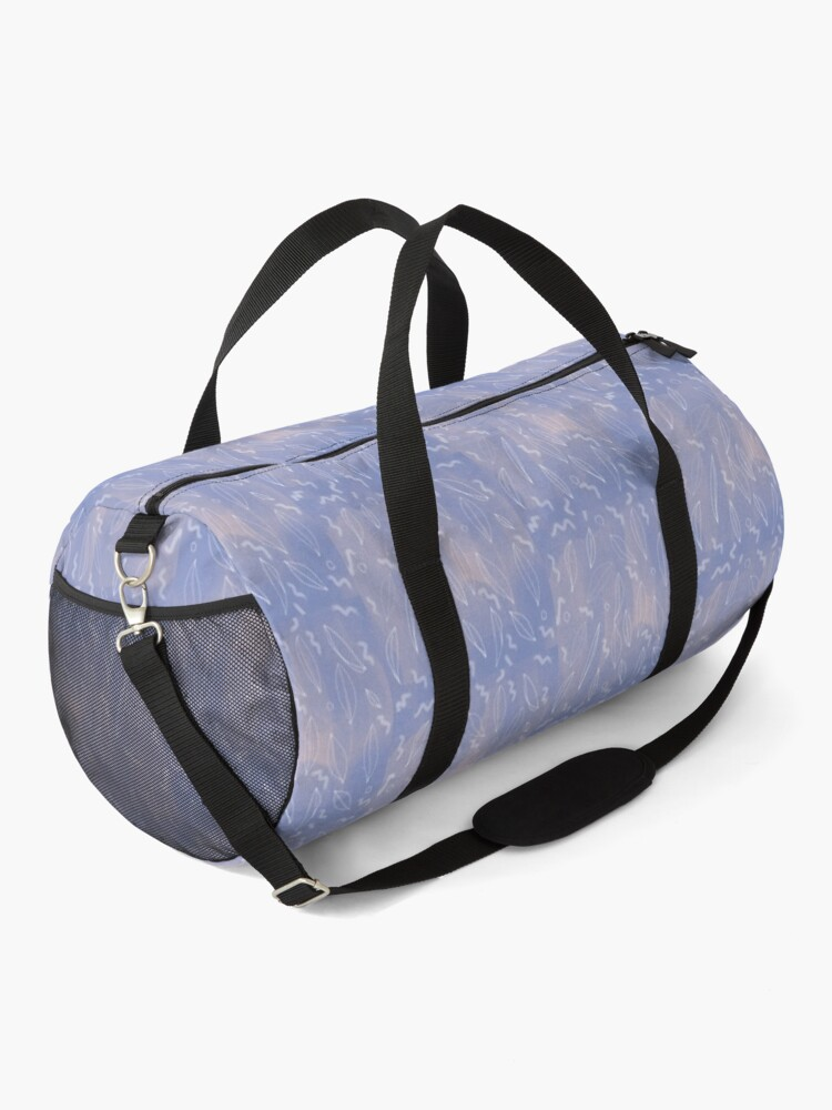 Alternate view of DREAMY NATURE PATTERN WITH WHITE LEAVES Duffle Bag
