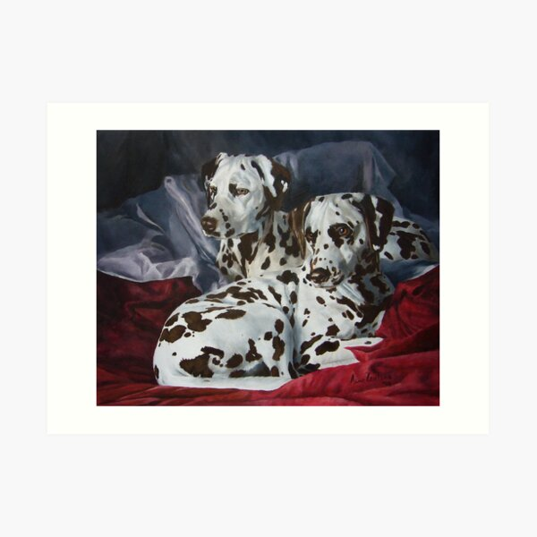 Ever Hopeful - liver spotted Dalmatians Art Print