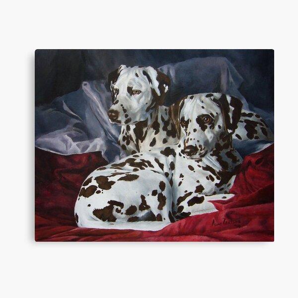 Ever Hopeful - liver spotted Dalmatians Canvas Print