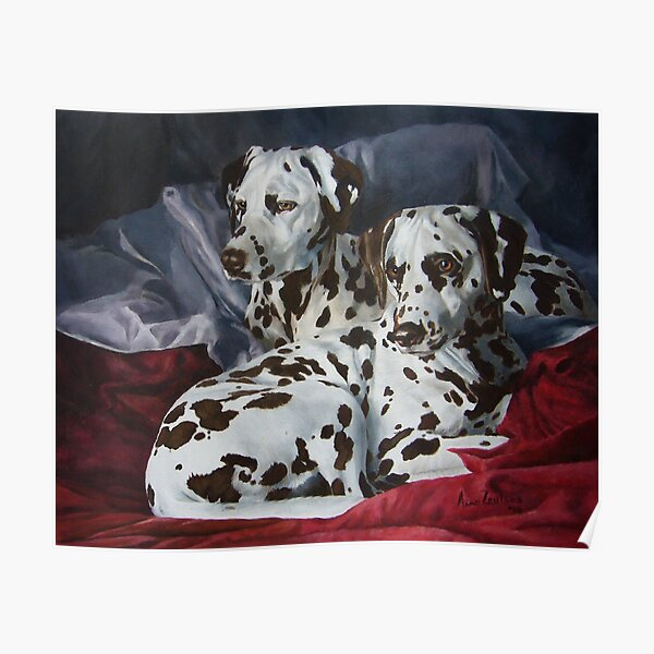Ever Hopeful - liver spotted Dalmatians Poster