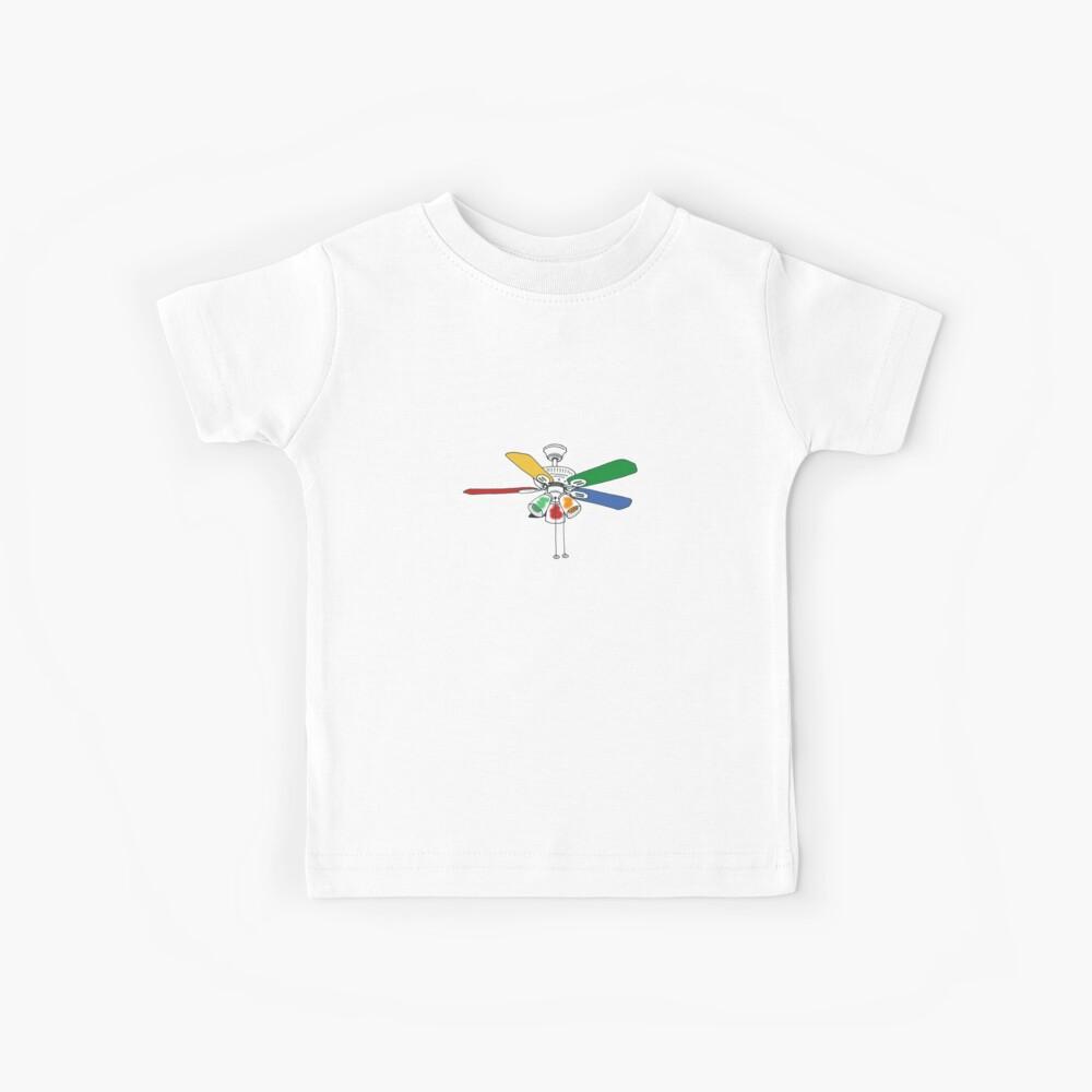 Rainbow Ceiling Fan Kids T-Shirt