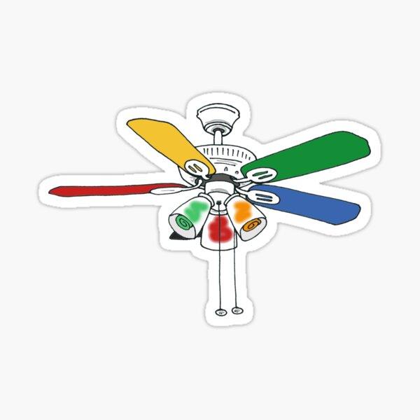 Rainbow Ceiling Fan Sticker