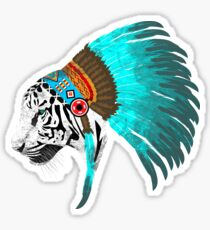 Abstract Tiger Chief Sticker