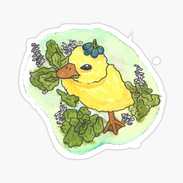 Water color duck Sticker