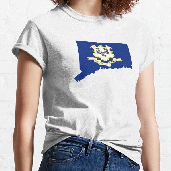 Flag Map of Connecticut  Classic T-Shirt