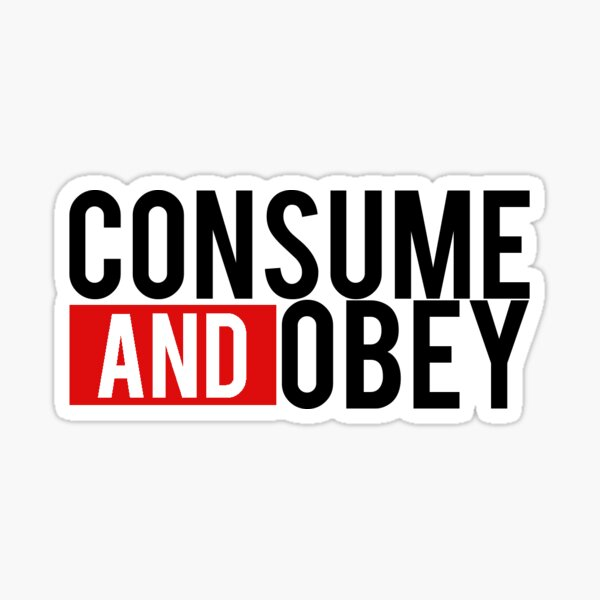 Consume and Obey Logo Basic Red Sticker