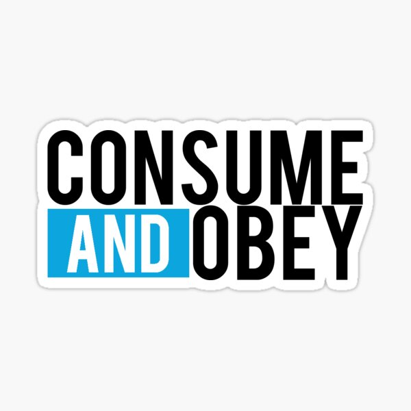 Consume and Obey Logo Basic Blue Sticker