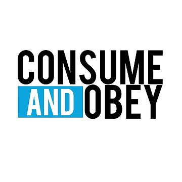 Consume and Obey Logo Basic Blue by jamieroach