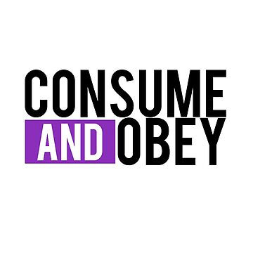 Consume and Obey Logo Basic Purple by jamieroach