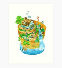 Animal Crossing New Leaf Art Print
