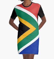 National flag of the Republic of South Africa Authentic version Graphic T-Shirt Dress