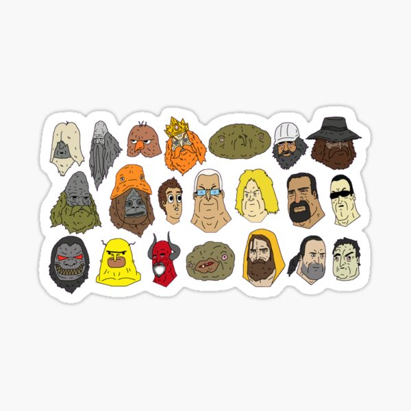 Big Lez Show Characters Sticker