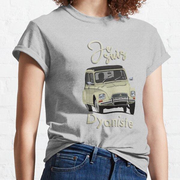 Je suis Dyaniste - Citroën Dyane - Jaune beige - Illustration T-shirt classique