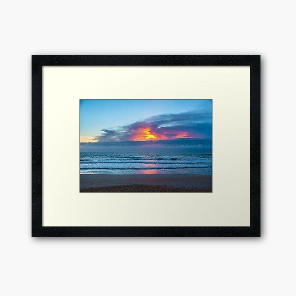 Fire in the Morning Sky Framed Art Print