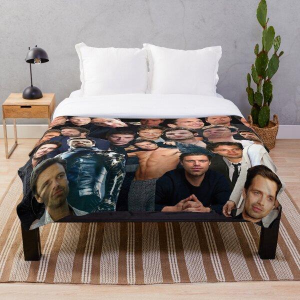 Sebastian Stan Collage Throw Blanket