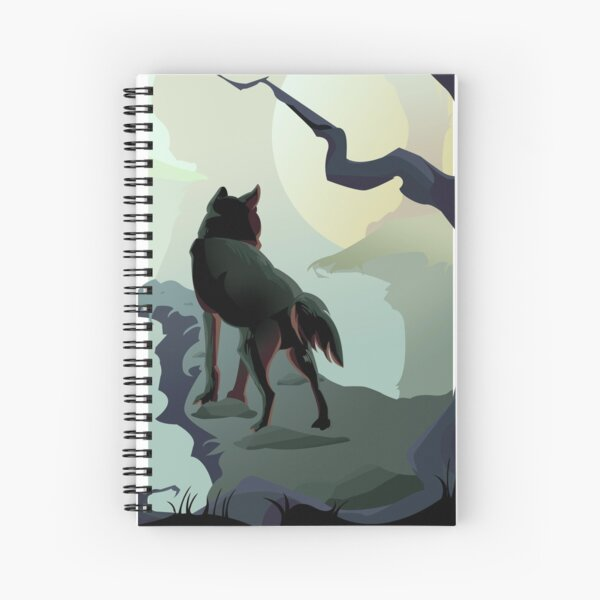 Wolf at Dawn Spiral Notebook