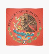 Close up of seal in the national flag of Mexico Scarf