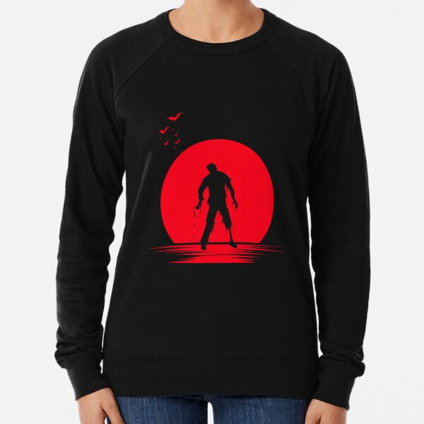 Coffee zombie bear With the sunset Lightweight Sweatshirt