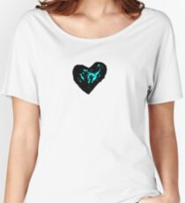 blue heart Women's Relaxed Fit T-Shirt