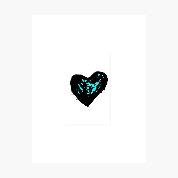 blue heart Photographic Print