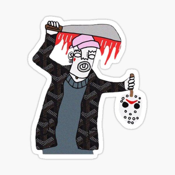 Ski Mask - Drown In Designer Sticker