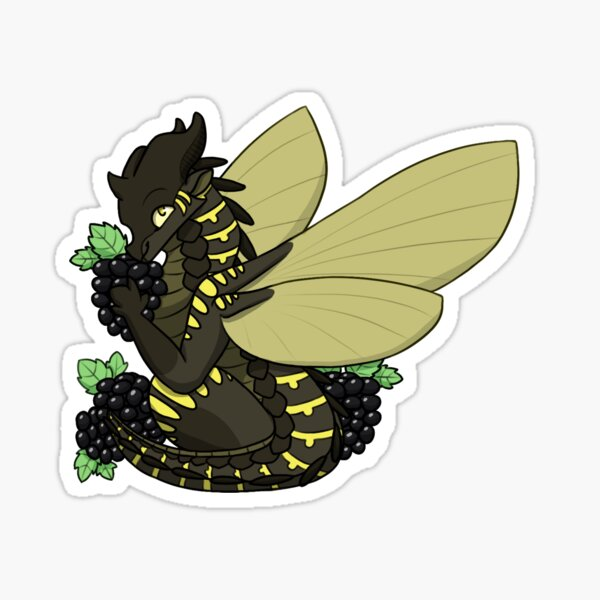 Bumblebee with Blackberries Sticker