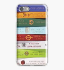 Stack of Outlander books/Diana Gabaldon iPhone Case/Skin