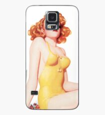 Tasty Pinups™ Vintage Red Head Smoking Hot Case/Skin for Samsung Galaxy