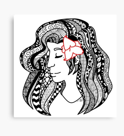 Zentangle Me Not Canvas Print