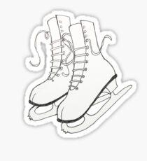 Figure Skates Sticker